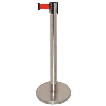 Afzetpaal 120cm hoog - 2m band - rood