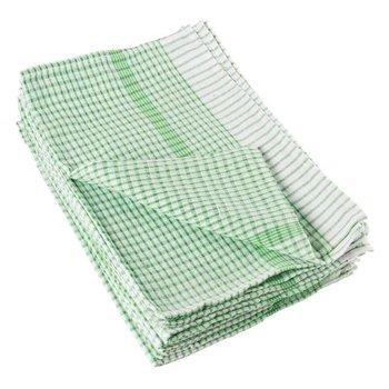 Theedoek 75x50cm - groen - per 10