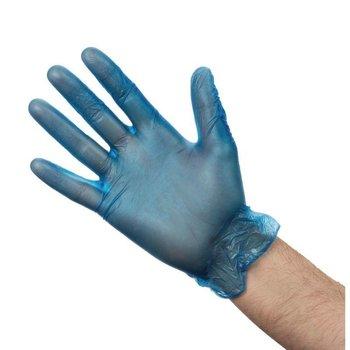 Vinyl handschoenen - blauw gepoederd size M - 100 stuks
