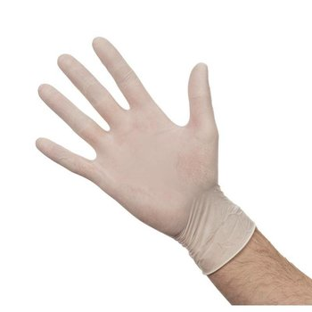 Latex handschoenen - gepoederd size M - 100 stuks
