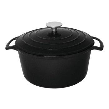 Braadpan gietijzer rond - zwart - 4 liter
