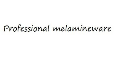 Professional Melamineware