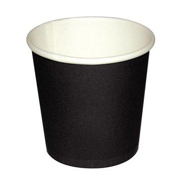 Koffiebekers - espresso - 11cl zwart - 50 stuks