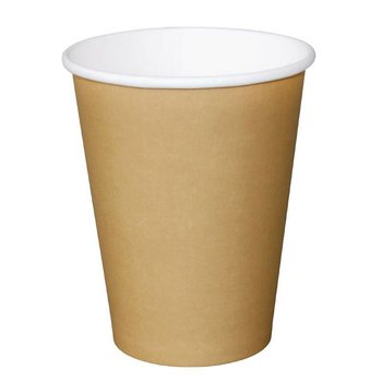 Koffiebekers - 34cl lichtbruin - 1000 stuks