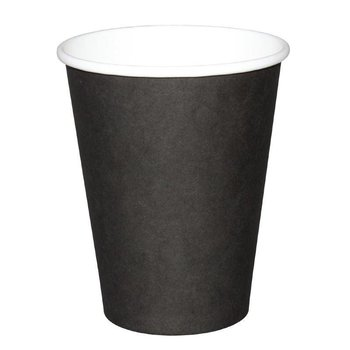 Koffiebekers - 34cl zwart - 50 stuks