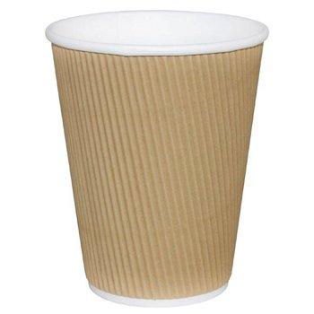 Koffiebekers rimpelwand - 23cl lichtbruin - 500 stuks