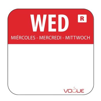 Weekdag sticker - woensdag