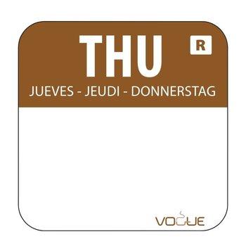 Weekdag sticker - donderdag