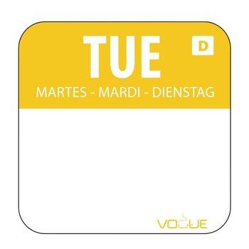 Weekdag sticker - oplosbaar - dinsdag