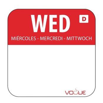Weekdag sticker - oplosbaar - woensdag