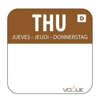 Weekdag sticker - oplosbaar - donderdag