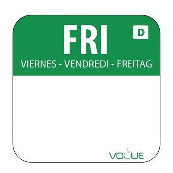 Weekdag sticker - oplosbaar - vrijdag
