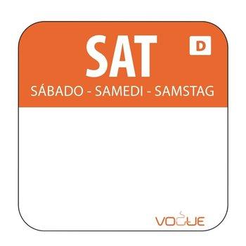 Weekdag sticker - oplosbaar - zaterdag
