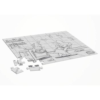 Horeca kinderpuzzel en kleurplaat - chef - 25 stuks