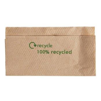 Recycled kraftpapier servetten - enkel - 6000 stuks