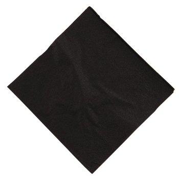 Professionele cocktail servetten - 25x25cm - zwart - 2000 stuks