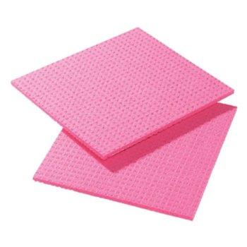 Vezeldoekjes met polyester - rood - 10x