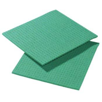 Vezeldoekjes met polyester - groen - 10x