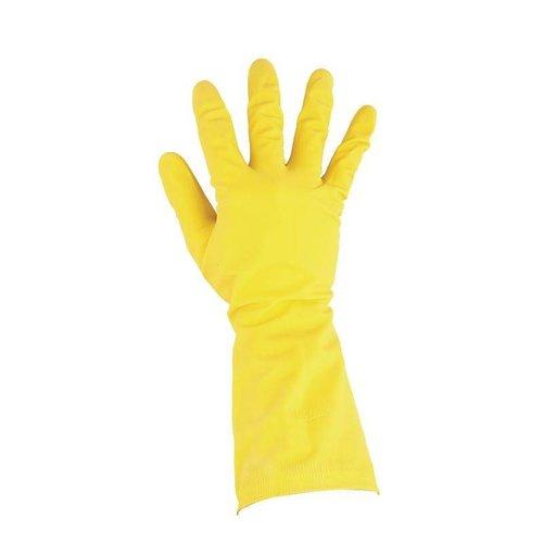 Schoonmaak handschoenen geel - M