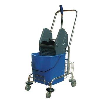 Mopemmer en wringer - RVS trolley