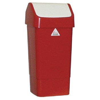 Kleurcode prullenbak - 50L - rood