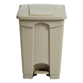 Pedaal afvalbak - luchtdicht - 45L - beige