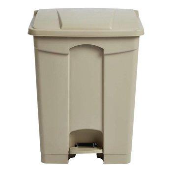 Pedaal afvalbak - luchtdicht - 65L - beige