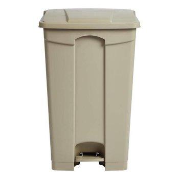 Pedaal afvalbak - luchtdicht - 87L - beige
