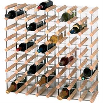 Wijnrek hout en metaal - 72 flessen