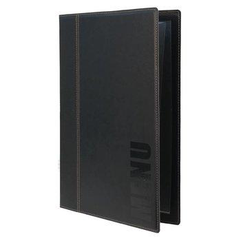 Horeca menukaart - wasbaar - zwart - A4
