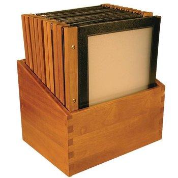 Menukaart houten rug voordeelset 20x - zwart - A4
