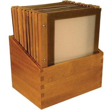 Menukaart houten rug voordeelset 20x - bruin - A4