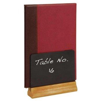 Krijtbord menuhouder - dubbelzijdig