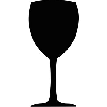 Krijtbord - wijnglas - 50x24cm