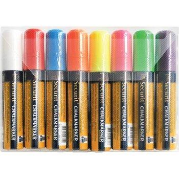 Wisbare stift - 7x15mm - kleurenset 8 stuks