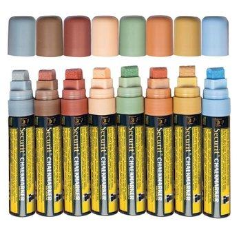 Vloeibare krijtstift -7x15mm - kleurenset 8 stuks