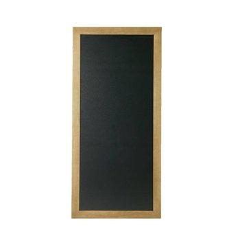 Schrijfbare wandbord lang - teak hout - 56x100cm