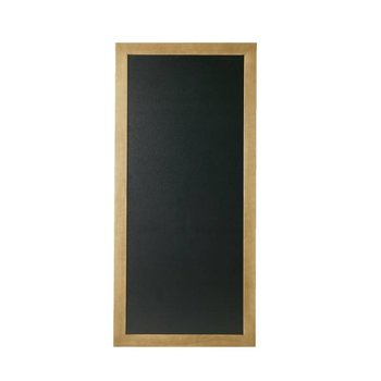 Schrijfbare wandbord lang - teak hout - 56x120cm