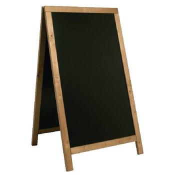 Stoep krijtbord - 68x120cm - teak