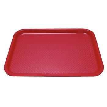 Fastfood dienblad - 45x35cm - rood