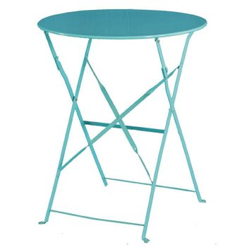 Tafel Lucas - rond - turquoise