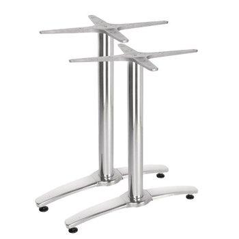 Dubbele tafelpoot aluminium - 68cm