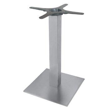Tafelpoot RVS - vierkant - 72cm