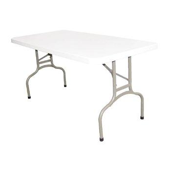 Inklapbare tafel - rechthoekig - wit 152cm