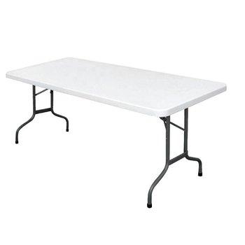 Inklapbare tafel - rechthoekig - wit 183cm