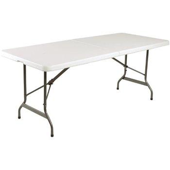Inklapbare tafel - rechthoekig - met handgreep - wit 183cm