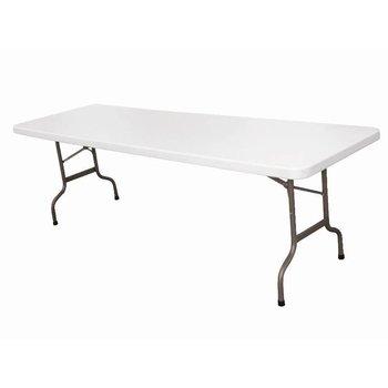 Inklapbare tafel - rechthoekig - met handgreep - wit 244cm