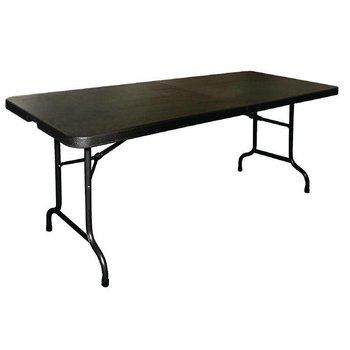 Inklapbare tafel - rechthoekig - met handgreep - zwart 183cm