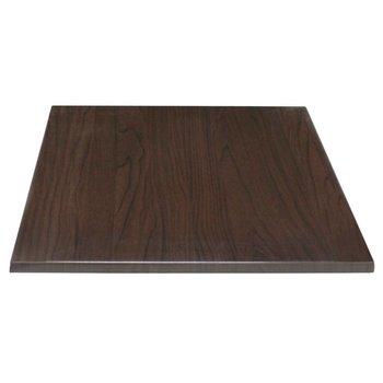 Tafelblad Rutger - vierkant 70cm - donkerbruin