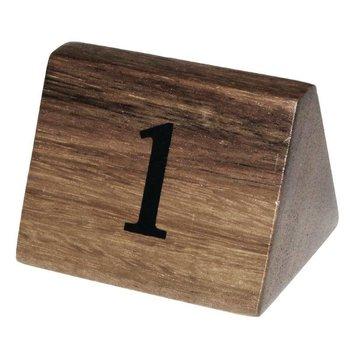 Houten tafelnummer bordje - 1 tot 10